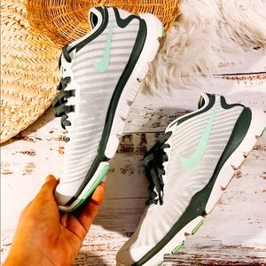 Nike | training fitsole sneakers white with mint
